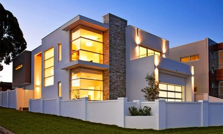 Casa con ventana esquinera