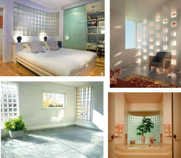 Habitaciones con ladrillos de vidrio